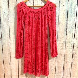 Trina Turk crochet dress coverup